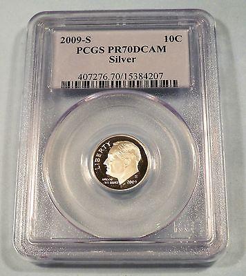 2009-S 10c SILVER PCGS PR70DCAM ROOSEVELT DIME PROOF DEEP CAMEO PR 70