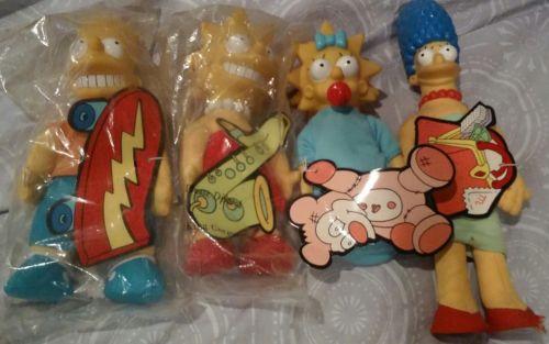 Simpson dolls Bart Family Burger King unopened