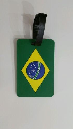 Brazillian Flag luggage 2x tags