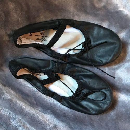 ABT Spotlights Toddler Girls Black Ballet Shoes Size 12