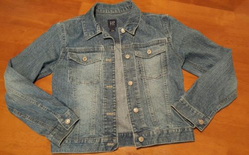 Gap Kids Girls Size xxl  Blue Jean Jacket Button  Medium Wash Denim