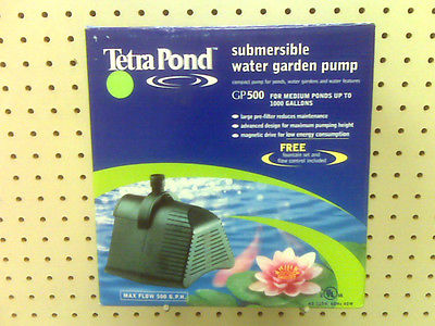NEW - SUBMERSIBLE WATER GARDEN PUMP - FOR PONDS UP TO 1000 GAL - FOUNTAIN SET