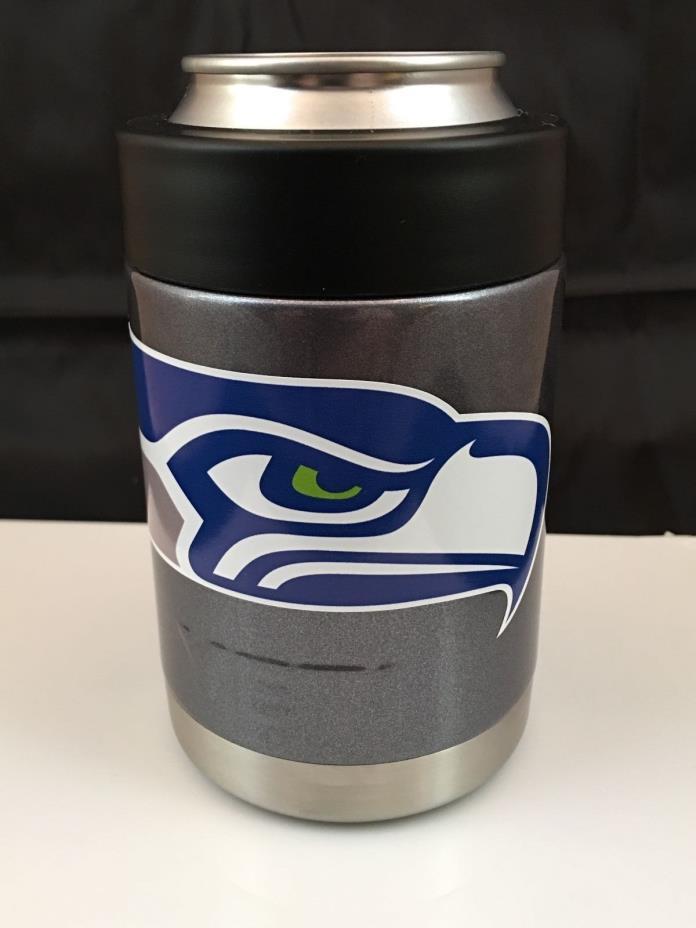 Seahawks YETI Rambler Colster-Custom SEATTLE SEAHAWKS logo!