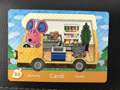 36 Candi Animal Crossing Welcome Amiibo Card