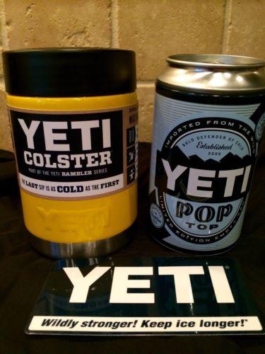 Yeti Rambler Colster NEW-- Custom Yellow Gloss---RARE!
