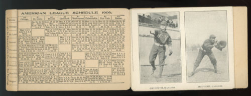 1906 NY YANKEES METAMORPHIC BASEBALL MAIL CARD FOLD OUT POSTCARD SCHEDULE