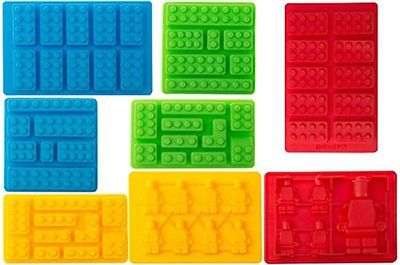 Silicone Mold Cake Candy Chocolate Soap Candle Ice Building Block Robot 8 set