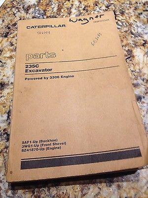 Caterpillar 235C Excavator Parts Manual SEBP1773-01