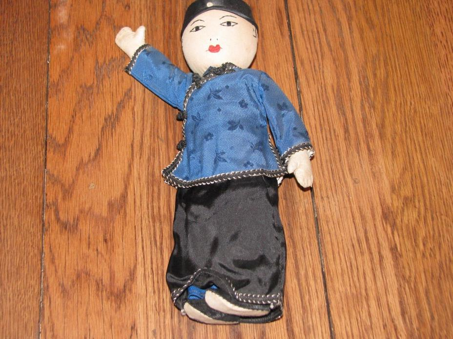 antique cloth Japanese doll_authentic clothing_hand raised_10