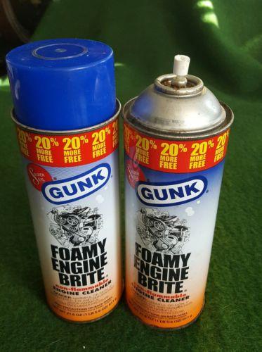 1 full 1 half  21.6 oz cans Gunk Foamy Engine Brite Original Degreaser  {005
