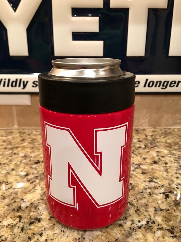 Nebraska YETI Rambler Colster--Custom Powder Coated- Nebraska Cornhuskers
