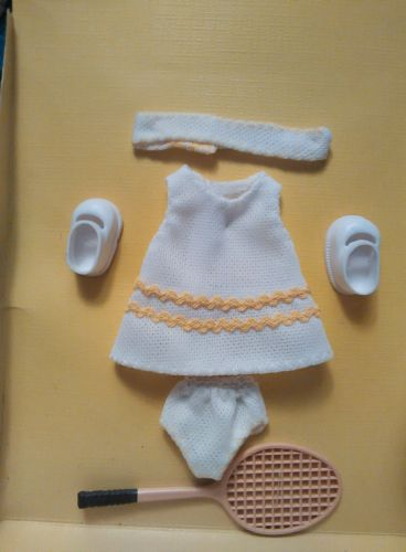 "Amanda Jane Mini Doll  Clothing For approx 7"" England Tennis Outfit vintage new"