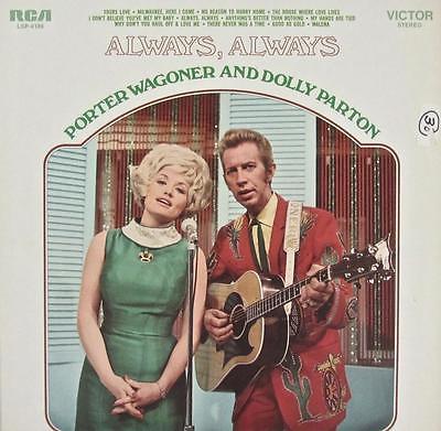 PORTER WAGONER & DOLLY PARTON SIGNED AUTOGRAPH LP ALBUM -ALWAYS,ALWAYS