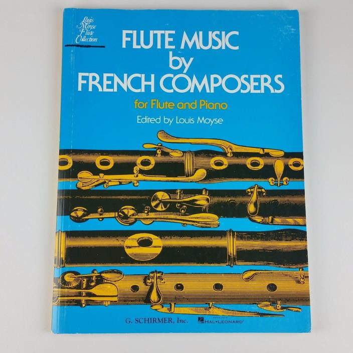 Flute Music by French Composers Flute & Piano Sheet Music Book [FREE SHIPPING]