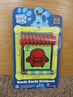 BLUE'S CLUES HANDY DANDY NOTEBOOK 1998 STEVE MINT *NEW IN BOX
