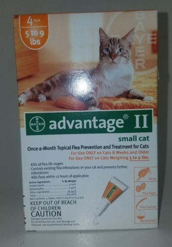 BAYER ADVANTAGE II FOR SMALL CATS 5-9 LBS - 4 PACK