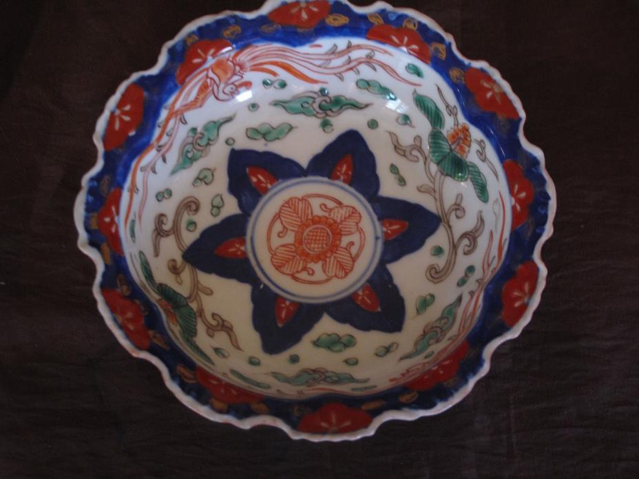 Antique 19th century  Japanese Porcelain Imari Charger / Plate