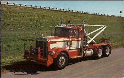 Tow Truck - Hunter's Wrecker Towing Service Gainesville TX Postcard