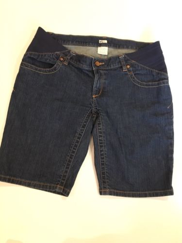 Pre-Owned Women's Old Navy Maternity Blue Jean Shorts Stretchy Size 8 Real Waist
