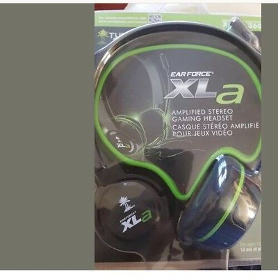 Turtle Beach Ear Force XLA Gaming Headset Xbox 360 Headphones With Mic Black/Gre