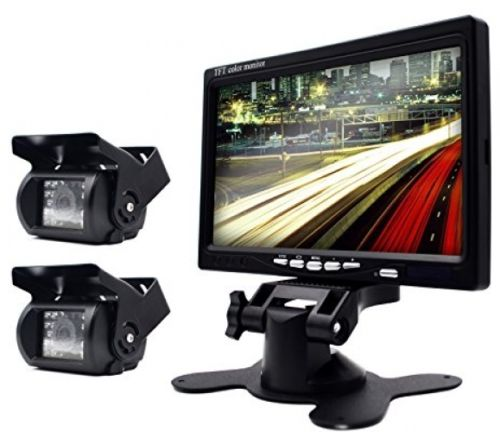 Backup Waterproof Wired Camera And Monitor Kit Parking Assistance System