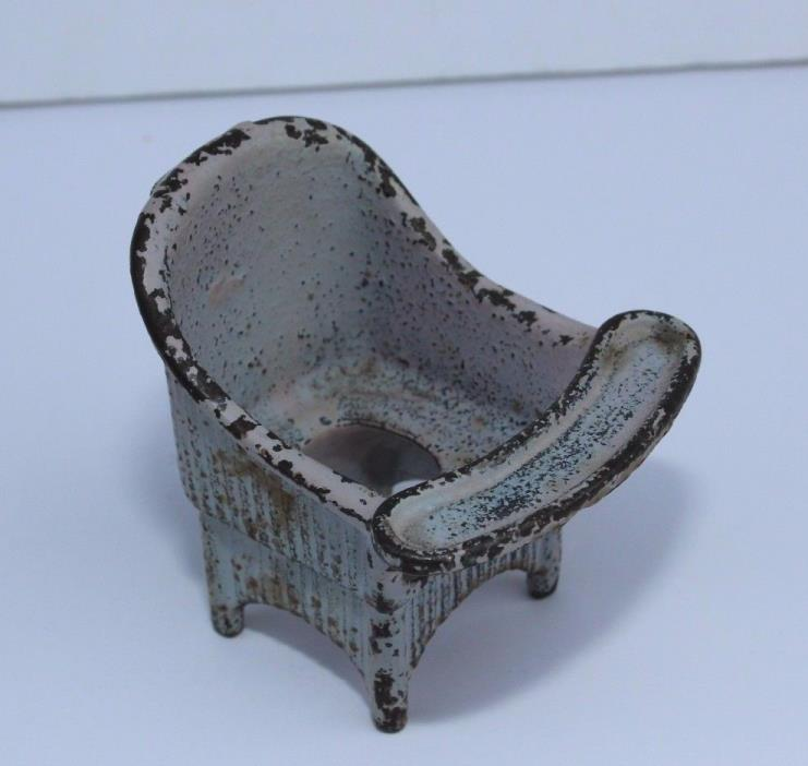 Vintage Kilgore Toy Cast Iron Potty Chair High Chair