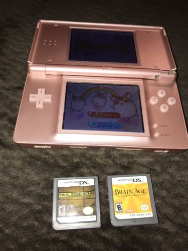 pink nintendo ds lite working, broken hinges