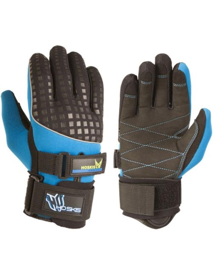 Ho Skis Water Skiing Gloves Cross World Cup Pair Blue Black Mens Medium Waterski