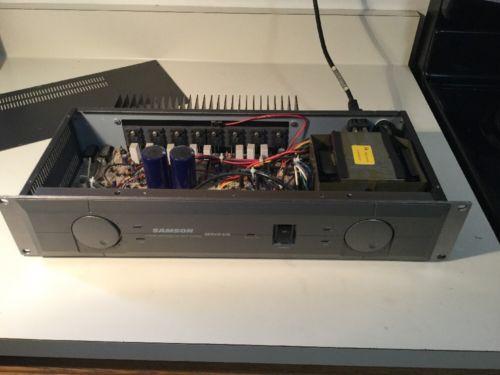 Samson Servo 240 Studio Stereo Power Amplifier. 120 Clean Watts Per Channel.