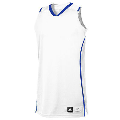 Adidas Performance Pro Team Basketball Jersey Womens TALL White NWT LT 12/14