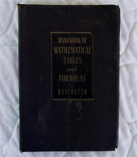 HANDBOOK OF MATHEMATICAL TABLES and FORMULAS. 1947 Leather