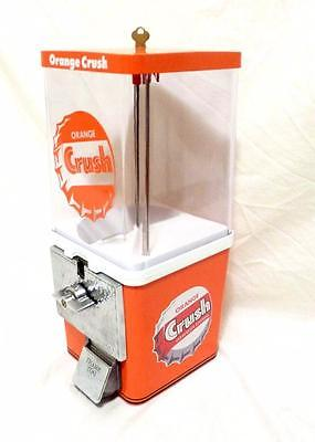 vintage gumball machine small candy  restored ORANGE CRUSH