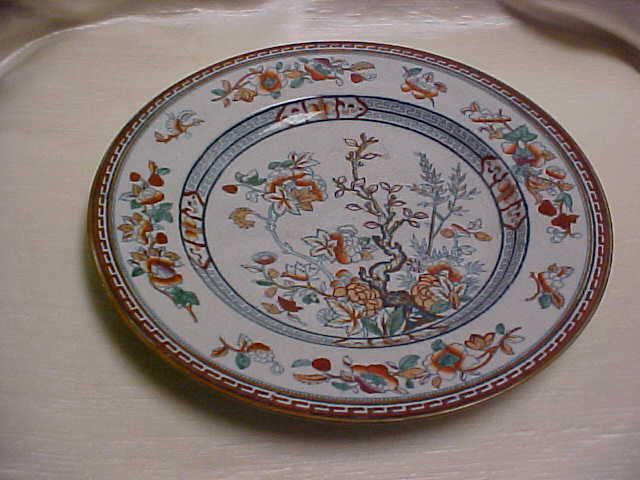 Pinder Bourne Company China Dresden Pattern Indian Tree Victorian Plate England