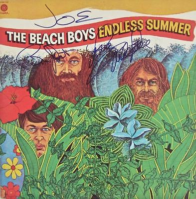 THE BEACH BOYS SIGNED AUTOGRAPH LP ALBUM -ENDLESS SUMMER-2 RECORDS