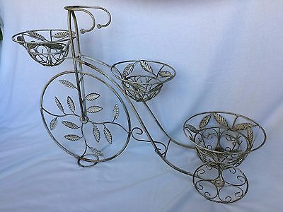 METAL THREE WHEEL BICYCLE ORNAMENTAL PLANTER GARDEN HOME DECOR