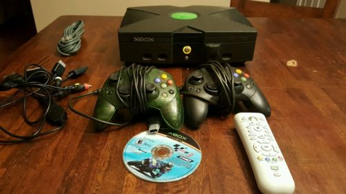 Original Xbox System Console With All Hookups and  2 controllers