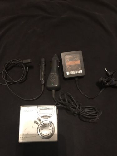 Sony MZ-N510 Type S Portable Minidisc Recorder Net MD Walkman w Everything Shown