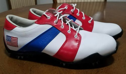 FootJoy LoPro Collection Golf Shoes Womens US 8 1/2 8.5 size. USA Flag Patriotic