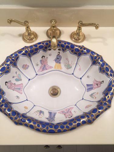 Vintage Sherle Wagner Sink & Faucet Set