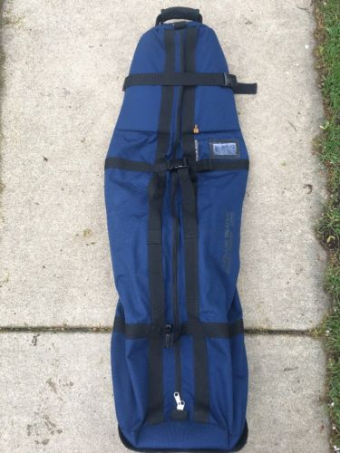 Club Glove Burst Proof w/ Wheels Travel Bag Navy Blue Pre-Owned