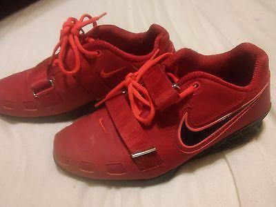 Nike Romaleos II - 2 Power Lifting Shoes - Red/Black US 9