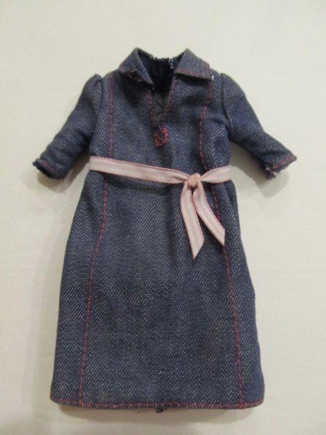 Mattel Blue Denim Maternity Dress for Happy Family Pregnant Midge Doll