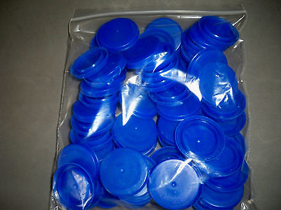 50 Blue Plastic Milk Water Gallon Bottle Caps Art & Math Projects Games Cat Toy