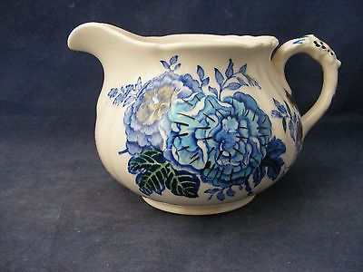Mason's Belvedere Cream Pitcher Blue Tan Made in England