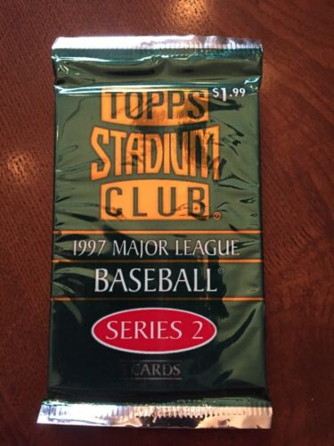 1997 Baseball Topps Stadium Club Series 2, Pack,(1) Sealed Pack,Jeter!