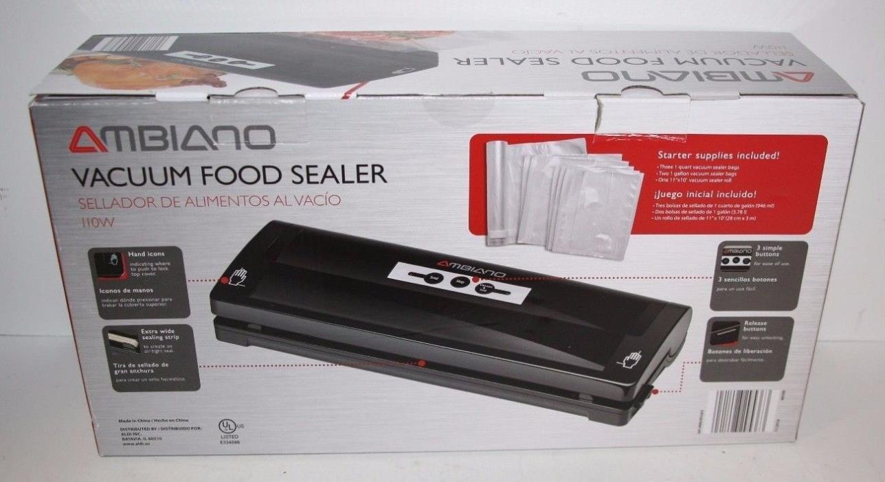 Ambiano Food Saver Vacuum Sealer Manual System