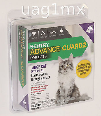 Sentry Advance Guard 2 for Large Cats over 9 lbs 4 Pack