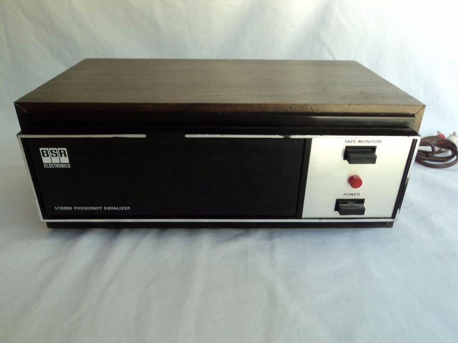 Vintage BSR FEW II 2 Graphic Stereo Frequency Equalizer Tape Monitor