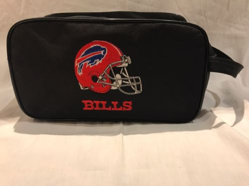 Buffalo Bills Toiletry Bag Dopp Kit VGUC