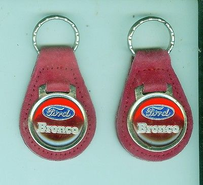 Vintage 1970's/80's Ford Bronco automobile suede key chain (Pick One!)